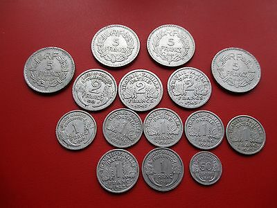 15 war time French aluminium coins (ref 124)