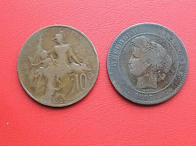 France 1897 and 1898 10 centimes (ref D1)