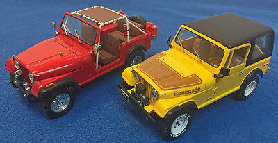 1977 Jeep Cj-7 Renegade 1/24 Assembled And Built Display Models From Two Kits