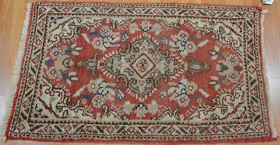 1'7x2'8 Beautiful Old Authentic Persian Sarouk Hand Knotted Estate Wool Area Rug
