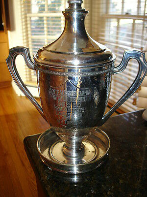Antique Silver 1927 GOLF Cocktail Shaker TROPHY Pennsylvania Media Heights GC