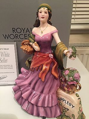 """Royal Worcester """"Lucky White Heather Seller"""" Ltd Edition Gypsy Figurine"""