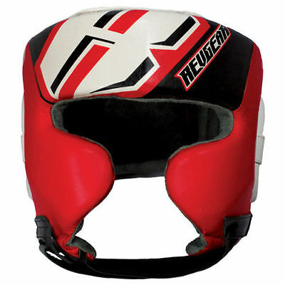 Revgear Champion Headgear with Cheek and Chin Protector, Red, Large