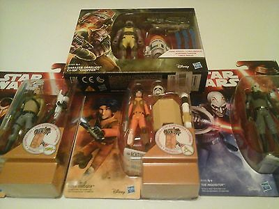 Star Wars Rebels Action Figure Lot The Force Awakens Card, Moc Mib Disney Hasbro