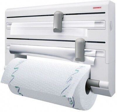 Leifheit Parat Wall-Mounted Foil, Cling Film And Kitchen Roll Holder Dispenser