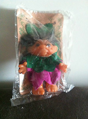 TROLL VINTAGE DAM RARE1984 TROLL Flower Girl Fairy DOLL TOY COLLECTABLE