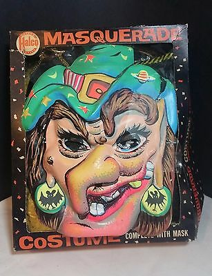 Vintage 1950-60's Super Halco Brand Masquerade Witch Costume Size Large 12-14