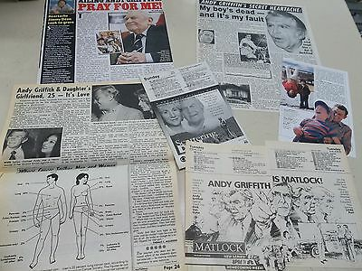 Andy Griffith   clippings #W1132