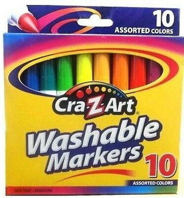 Cra-Z-Art Lot of 2 Washable Markers Broadline, 10 Count each box Bold Colors