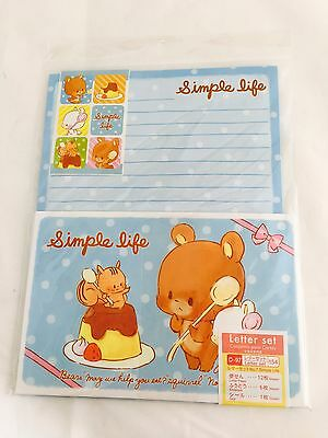 DAISO Letter Set Simple Life Paper Envelope Sticker Stationary Made in Japan F/S