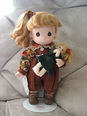 Precious Moments 1995 Birthday Blessing Series - November Girl Doll with Stand