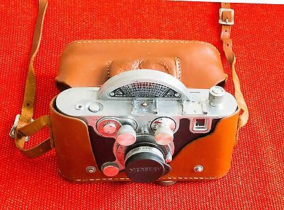 Vintage Mercury II Model CX 35mm ½ Frame Film Camera Tricor f2.7 Lens w/Case