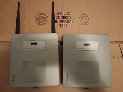 Lot of 2 Cisco Air-AP1220B-A-K9 Access Point With POE Panel Antenna Complete Set