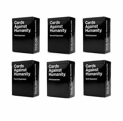 Cards Against humanity ALL 6 Expansions Version 1-6
