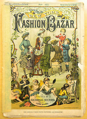 May 1883 ISSUE OF THE NEW YORK FASHION  BAZAR - FANTASTIC ILLUSTRATIONS STORIES!
