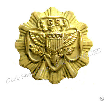 1938 Official Senior Girl Scout Membership Pin Excellent 7-Stars Collectors GIFT