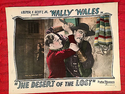 The Desert Of The Lost 1927 silent western lobby card Wally Wales