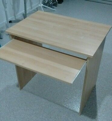 Desk with retractable keyboard tray