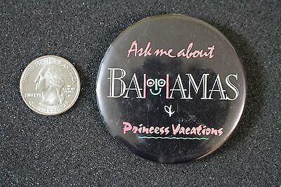 Princess Cruise Lines Vacations Bahamas Cruise Ship Pin Pinback Button #20587