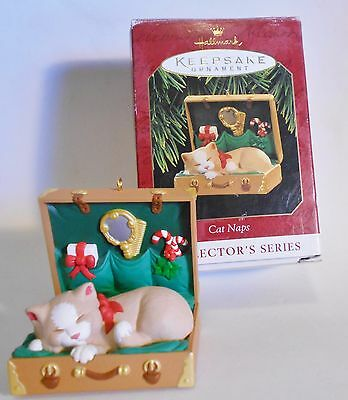 "1997 Hallmark Keepsake Ornament ""Cat Naps"" #4 in Series"