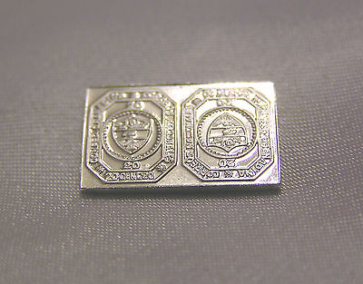 Solid Silver Stamp Columbia Granadine Confed 1859 Tete-Beche 20-Cent Coat Of Arm