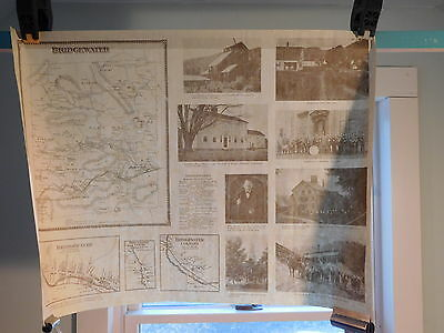 Historical Bridgewater Vermont Map - Reproduction