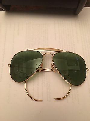 Ray-Ban Bausch & Lomb B&L Vintage Amber Aviator Style Shooting Glasses 58-14