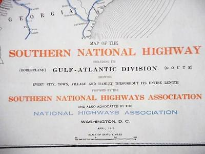 Proposed 1915 Southern National Highway Association Map.  S.carolina -San Diego