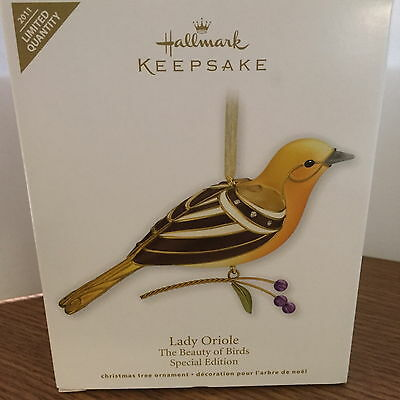Hallmark Ornament The Beauty of Birds Special Limited Edition 2011 Lady Oriole