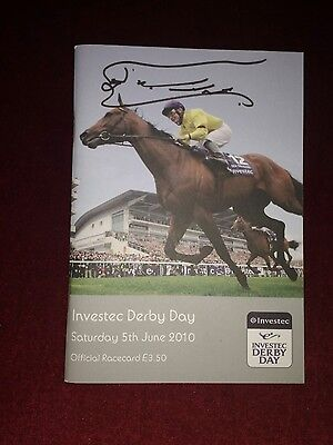 horse racing owner sheikh  mohammed autographed race card