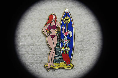 Disney Pin 60913 Jessica with Roger Rabbit Surfboard