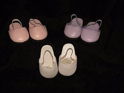 3 Pairs Of Cute Slip On Clogs To Fit Bitty Baby Face And American Girl Dolls