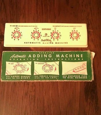Vintage Sterling Automatic Adding Machine No. 565 Box Included