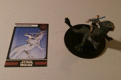 Star Wars Miniatures 2005 Universe OBI-WAN ON BOGA 5/60 with Card Very Rare