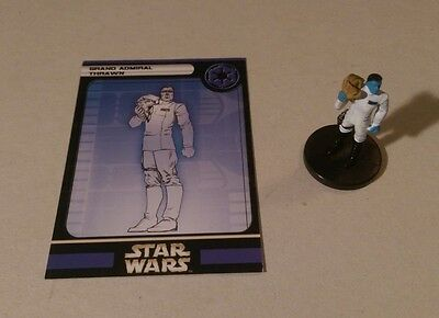 Star Wars Miniatures 2005 Universe GRAND ADMIRAL THRAWN 38/60 w/Card Very Rare