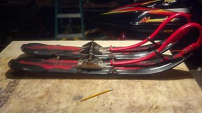 Simmons Skis Red and Black Yamaha Mounts Available Viper SRX SXR Exciter Vmax