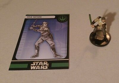 Star Wars Miniatures 2005 Universe KYLE KATARN 52/60 with Card Very Rare