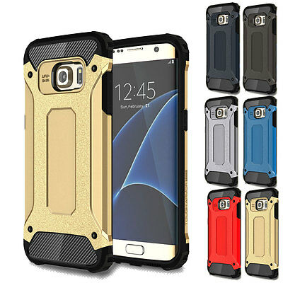 Shockproof Armor Hybrid Protective Case Back Cover For Samsung Galaxy S6 - Gold