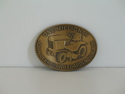 "John Deere""One Millionth Lawn & Garden Tractor"" Belt Buckle Bronze Finish - 1984"