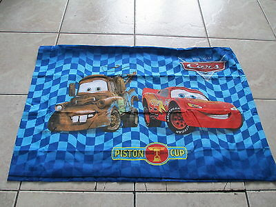 Disney Pixar Cars Piston Cup Lightning McQueen Mater Blue Two Sides Pillowcase