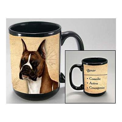 Boxer Cropped Faithful Friends Dog Breed 15oz Coffee Mug Cup