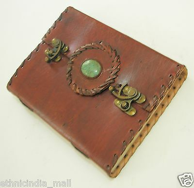 Handmade Paper Pagan Leather Journal Blank Diary Grimoire Book of Shadows Wiccan