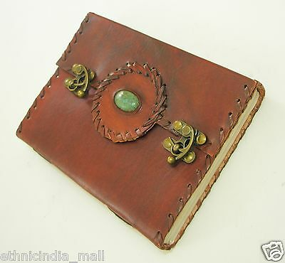 Celtic Leather Journal Antique Diary Handmade Blank Book of Shadows Wiccan Pagan