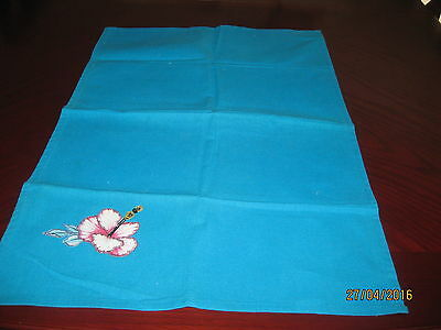 All Cottontea Towel With Appliqued Flower To It