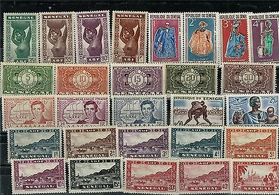 Senegal, small acumulation of stamps, mixed condition (04).