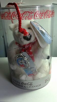 Watch & Polar Bear- Vintage Coca-Cola Collectible Set - Sealed Never Opened 1999