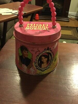 Disney's High School Musical Girl's Dark Pink Tin Lunch Box with Handle