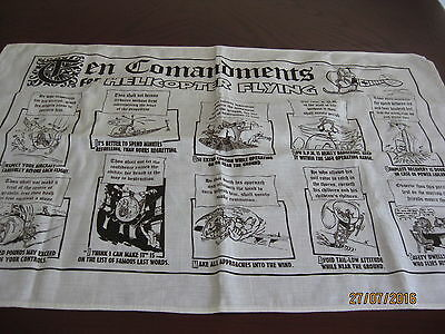Linen / Cotton Tea Towel - 10 Commandments Of Helicopter Flying