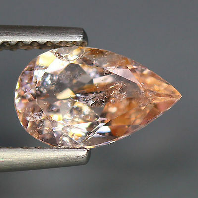 1.31 Cts_Simmering Ultra Nice Color_100 % Natural Peach Pink Morganite_Brazil