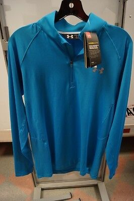 New Mens Ua Under Armour 1/4 Zip Coolswitch Thermocline Fishing Pullover Large